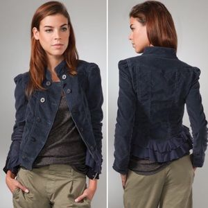 Free People Victorian Cord Riding Jacket